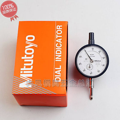 New Mitutoyo 2046S Dial Indicator 0-10mm X 0.01mm Grad NEW