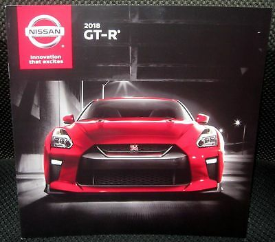 2018 NISSAN GT-R 16-PAGE Original Sales Brochure Mint Never Opened Up Look WoW !