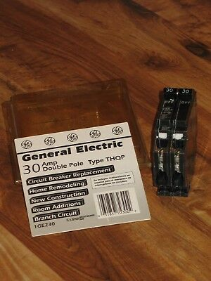 GE General Electric THQP230 Thin Circuit Breaker 2 Pole 30 Amp 120/240 volt