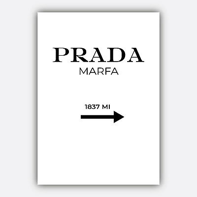 Fashion PRADA Marfa Minimalist Typography Quote Art Print Wall Art Poster