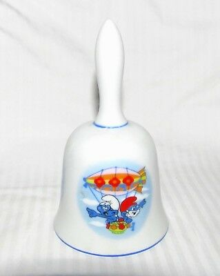 """1982 Smurf Collectables Porcelain Bell - Wallace Berrie Co. - Japan - 5.25"""""""