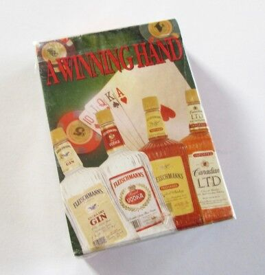 A WINNING HAND - Fleischmann's United Distillery Poker Playing Cards - Sealed