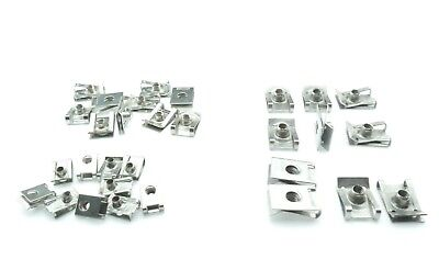 30 spring nuts M4 M5 M6 fairing clips sheet snap metric thread stainless steel