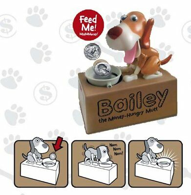 Dog Mechanical Piggy Bank- Watch Him Eat Your Coins - Colors May Va