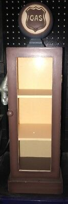Collections Etc Wooden Gas Pump Cabinet With Shelves