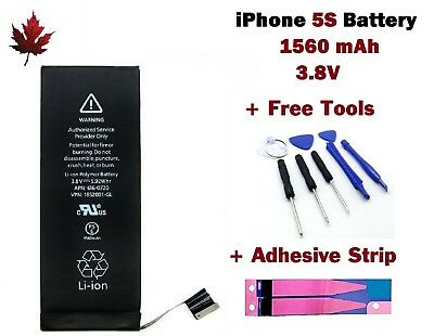 Brand New iPhone 5S Replacement Battery With Repair Tools & Adhesive Strip