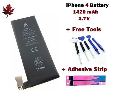 Brand New iPhone 4 Replacement Battery With Repair Tools & Adhesive Strip