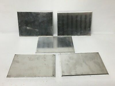 5 pc 6-1/4 x 4 Aluminum Sheet Plate Scrap Metal Material Stock Bar Flat Shim
