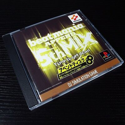 Beatmania Append 5thMix PS1 SONY PlayStation Game JAPAN Import NTSC-J #200-5