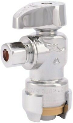 SharkBite Brass 1/2-in Push-to-Connect x 1/4-in OD Compression Quarter Turn