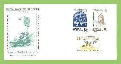 Tristan Da Cunha 1985 Shipwrecks (1st series) set on First Day Cover