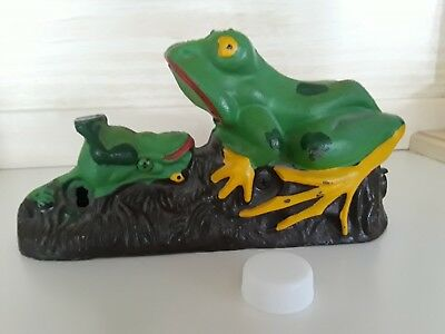 vintage antique frog coin collector hand-painted