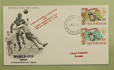 DR WHO 1966 FDC BERMUDA WORLD CUP SOCCER  d02551
