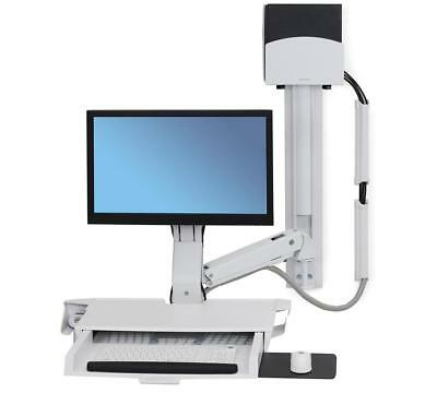 Ergotron 45-272-216 Sit Stand Telescoping Combo Arm Monitor Keyboard Wall Mount