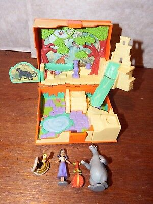 RARE Disney Jungle Book figure toy playset with figures polly pocket style
