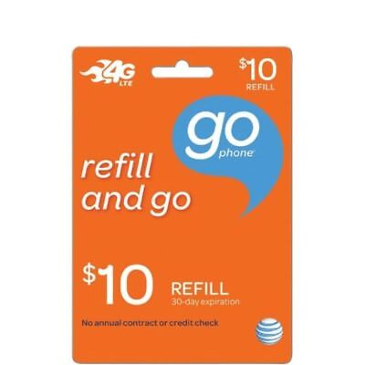 AT&T GoPhone $10 Refill. Credit applied DIRECTLY to PHONE