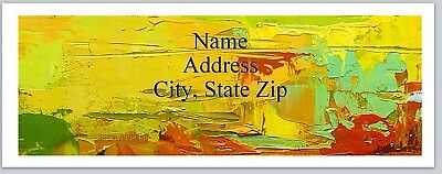 Personalized Address Labels COlorful Abstract  Paint Buy 3 get 1 free (P 588)