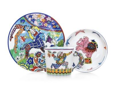 Tiffany & Co, Fantasy Gene Moore Child's 3 pc Baby Set Plate Cup Bowl