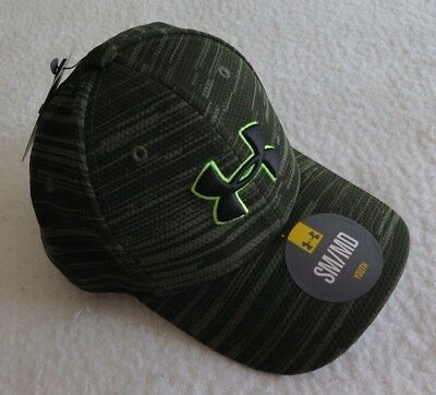 Under Armour Boys' Printed Blitzing Green Cap - Size XSMALL - NWT