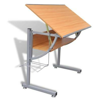 Drafting Table Height Adjustable Tiltable Drawing Desk Spacious Working Space