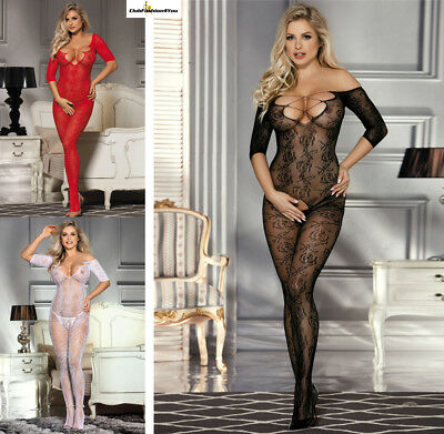 Catsuit Dessous Netz Body Teddy Reizwäsche Body Stocking | Xs-M |H3153-Hh