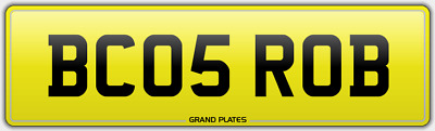 Robert Robby Robin Robyn Number Plate Bc05 Rob Reg Assignment Fee Included Robs