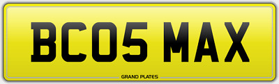 Maxy Maxes Maxi Number Plate Bc05 Max Reg Maximum Assignment Fee Included Maxed