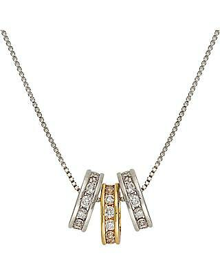 Montana Silversmiths Two-Tone Triple Shine Necklace Silver