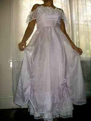 GOWN, SOUTHERN BELLE, PRINCESS, COSTUME, LAVENDER, LACE, size 8