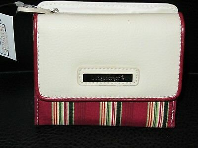 Longaberger HOLIDAY STRIPE Small WALLET Removable ID HOLDER NWT