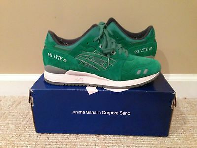 sale retailer 8bb3f 1417e ASIC GEL LYTE III Green/Green Suede Puddle Pack Size 10