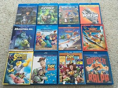 (12)MONSTERS INC, PLANES, TOY STORY 3, WRECK-IT RALPH (Blu ... Wreck It Ralph Trailer Toy Story