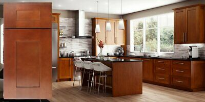 ALL WOOD RTA Transitional Shaker Kitchen Cabinets in Elegant ...