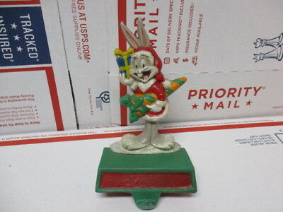 Vintage MidWest 1996 Bugs Bunny Christmas Stocking Hanger Looney Tunes