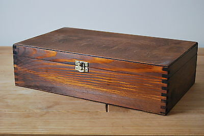 Double Wine Wooden Box Plain Wood In Brown Color