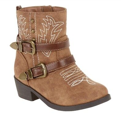 Faded Glory Infant/Toddler Girls Brown Fashion Cowboy Boots/Shoes: 2-11