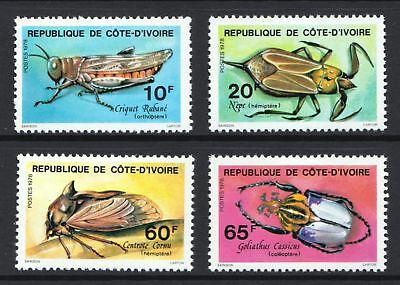 Ivory Coast 1978 Insects - Mint hinged set of four - Cat £7.25 - (309)