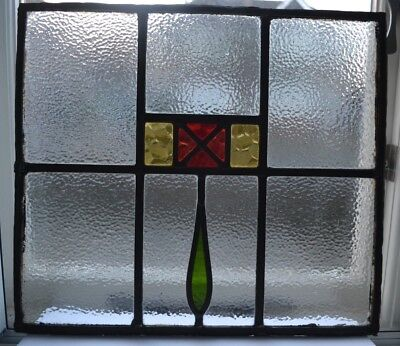 2 British leaded light stained glass window panels. R694c. WORLDWIDE DELIVERY!!!