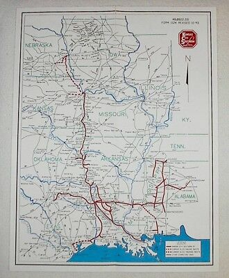KCS - KANSAS City Southern Railway 1993 system map 22