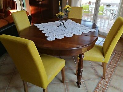Table noyer 19° 120 X 100/180 avec 2 rallonges