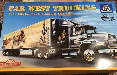 Italeri 709 Far West Trucking  , US Truck with Reefer Trailer 1:24