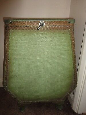 Vintage Ottoman Green Hinged Glass Lid Unusual Shape Good Used Condition