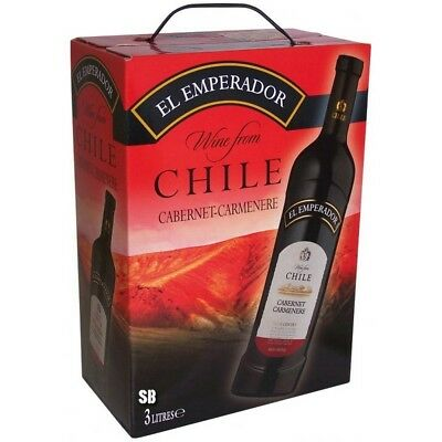 El Emperador Cabernet Cabernere Chile Rotwein Bag in Box 12,5% vol 300cl BiB