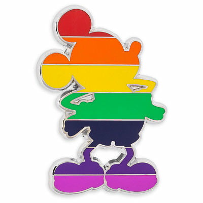 Mickey Mouse Silhouette - Rainbow LGBT Pride colors -  Disney Pin