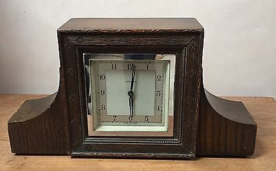 "Perivale Oak Case Balance Wheel Movement Timepiece Mantle Clock GWO 6.5""H 12""L"