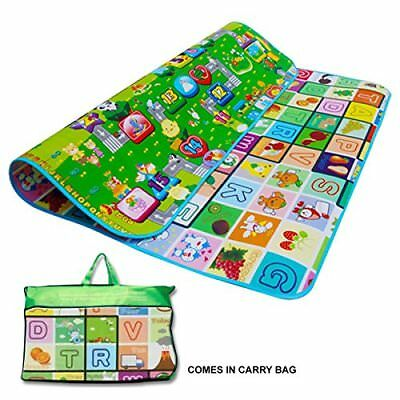 New 200 X 180Cm 2 Side Kids Crawling Educational Game Baby Play Mat Soft Foam Ca