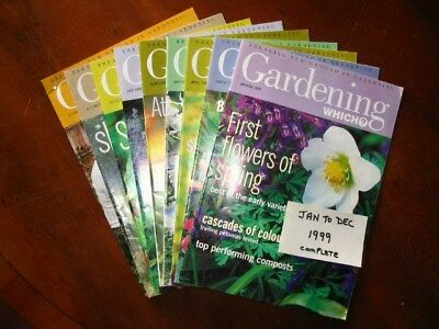 1999 Full Year Which Gardening January – December, all preloved used once only.