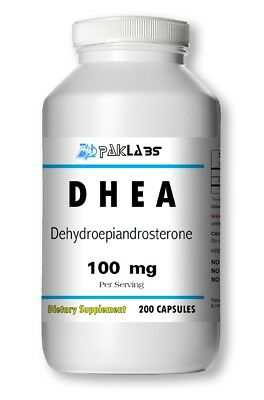 DHEA 100mg 200 Capsules 6+ Month Supply Diet Supplement Antioxidant Best Quality