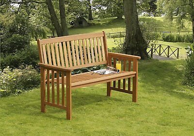 Suntime Hardwood Camillion 2 Seater Wooden Garden Bench Outdoor Seat Patio Chair