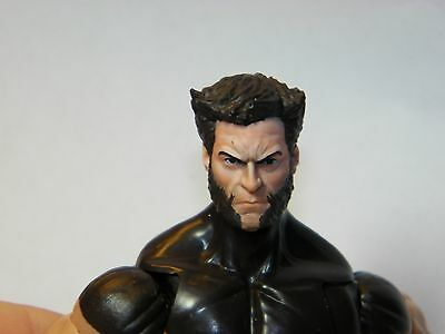 HEAD ONLY Marvel Legends Custom painted head LOGAN PAINTED HEAD ONLY Closed
